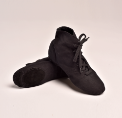 Boots moderne Jazz toile avec lacets