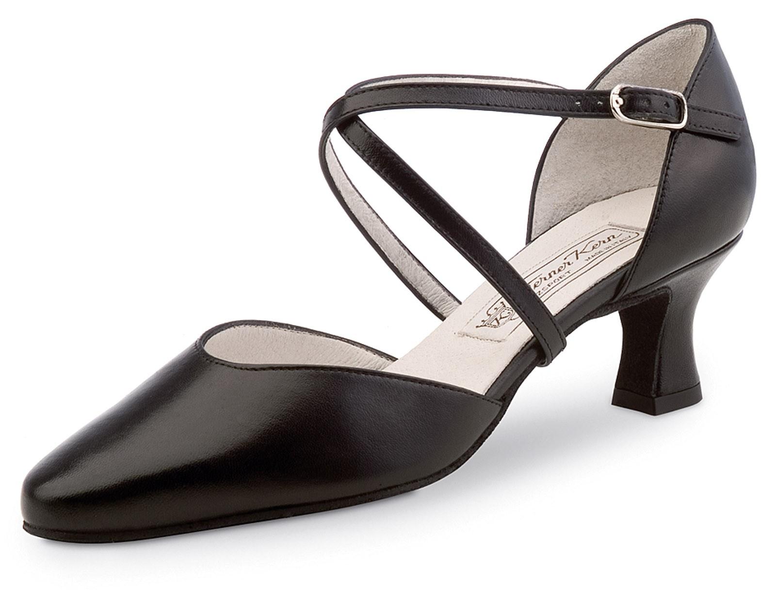 Werner Kern Femmes Chaussures de Danse Patty - Cuir Noir - 5,5 cm [UK 6]
