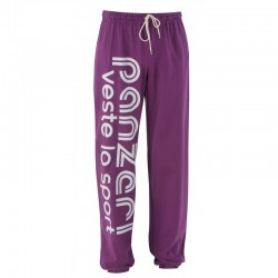 Pantalon Panzeri en Violet/Blanc