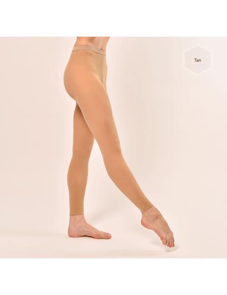 Collants sans pieds tan