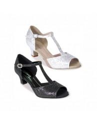 Chaussures danse noir paillettes marque Sodanca
