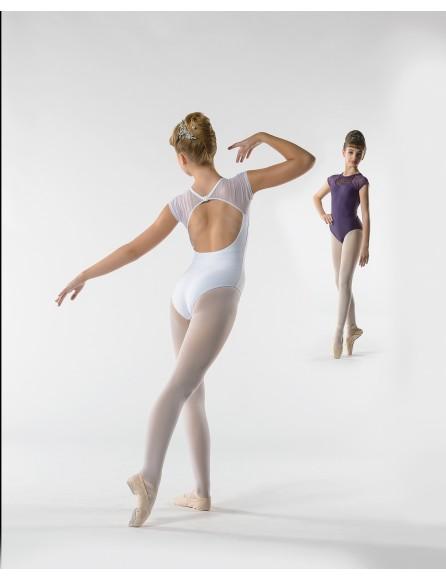Justaucorps Gladys dentelle Ballet rosa