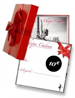 Chèque cadeau pour passionné de danse 10€