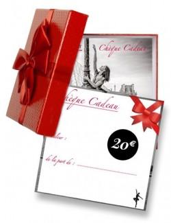 Chèque cadeau pour passionné de danse 20€