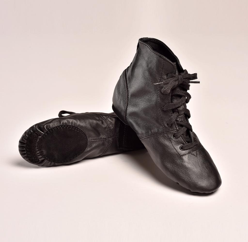 bottines en cuir noires jazz
