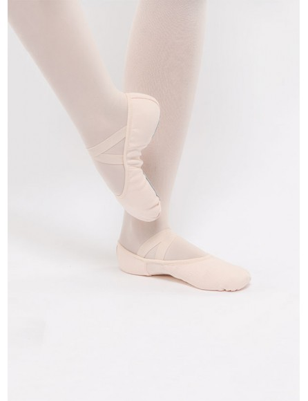 Chausson Demi-pointe en toile stretch