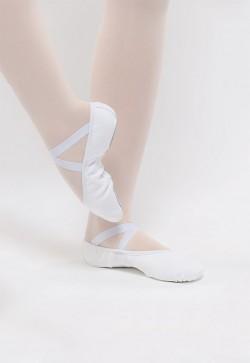 """Demi-pointe élastiquée blanche """"Dansez-vous"""""""