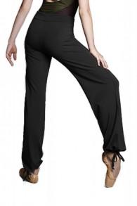 Pantalon danse noir avec lien de serrage