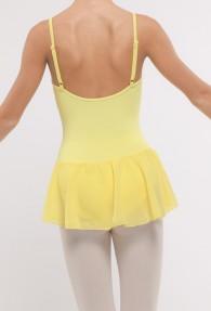Tunique jaune fines bretelles réglables