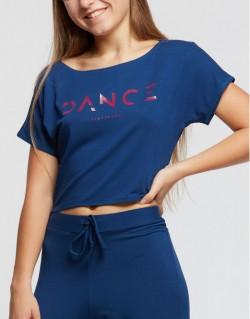 T-shirt court logo dance DENIM